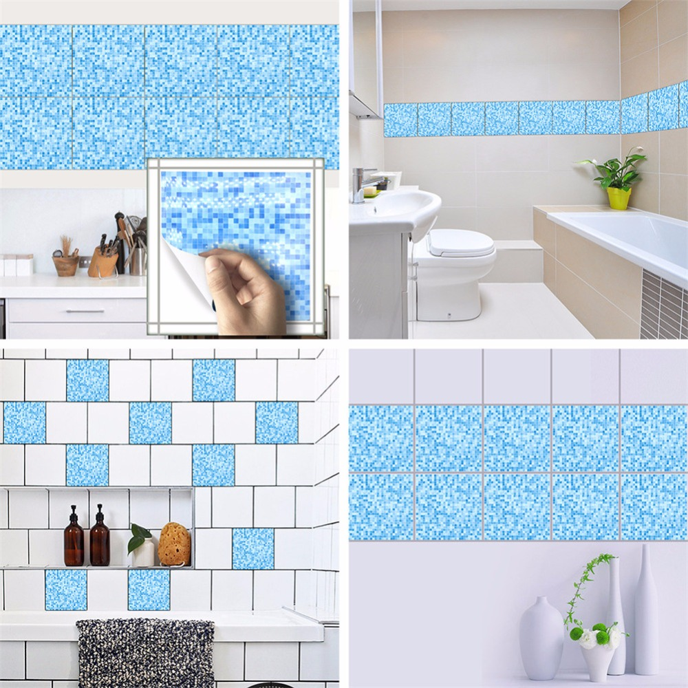 Yanqiao Mosaic Tiles Wall Sticker Waterproof Bathroom Kitchen ...