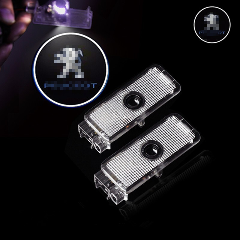 2x Car Door Logo Light Projector Shadow lamp car styling for Peugeot 508 408 406 206
