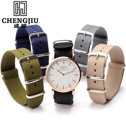Prix pour Nylon bande de montre pour daniel wellington pour timex pour lumi nox l'otan 18 20 22mm Boucle Montre StrapWatchband Bracelets Ceinture bileklik
