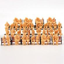 P4805B 64 шт. все сидящие фигуры O Масштаб 1:48 неокрашенные люди модель железной дороги