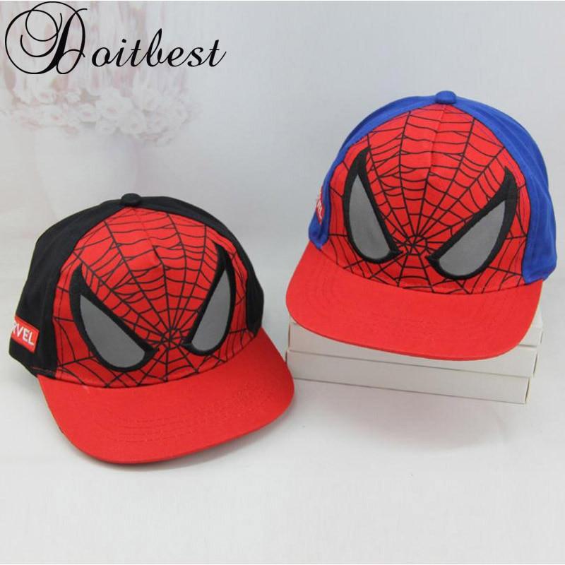 727070a5d8f Doitbest 2-8 Y Super Hero Spiderman kids Baseball Caps For Children Boy  Girls Hip Hop Hats Summer Snapback Outdoor Cap
