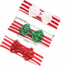30 pcs /lot ' , big sequin messy headband bowknot , headband sequin bow for christmas holiday hair accessories - DISCOUNT ITEM  13% OFF All Category