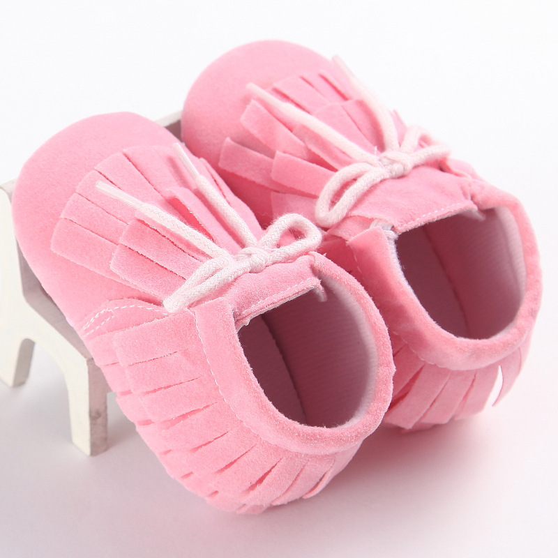 Baby Girls First WalkersSoft bottom tassel leisure baby shoes toddlers Leather Baby Moccasins Gold Bow Girls First Walker FMA002