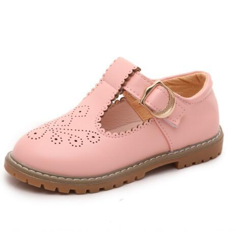 NEW Spring/Autumn Girls Leather Shoes Children Princess Casual Flats Fashion Genuine Leather Anti-skid Sneakers Kids Shoes 03