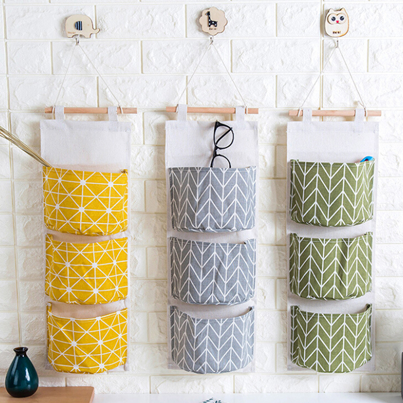 Wall Hanging Storage Bags Wall Pocket Hanging Holder Organizer Sundry  Storage Pocket For Decoration Kitchen Bathroom