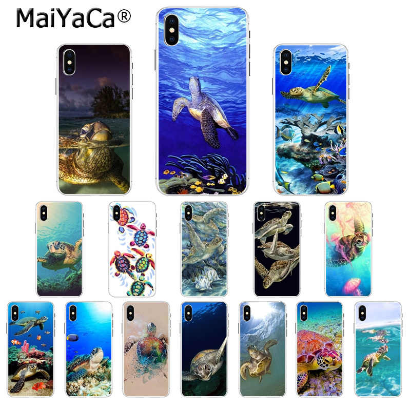 MaiYaCa Sea Turtle Costume Popular TPU Tampa Do Telefone para Apple iPhone 5 5S SE 6 6S Plus 7 8 X XS MAX XR Tampa