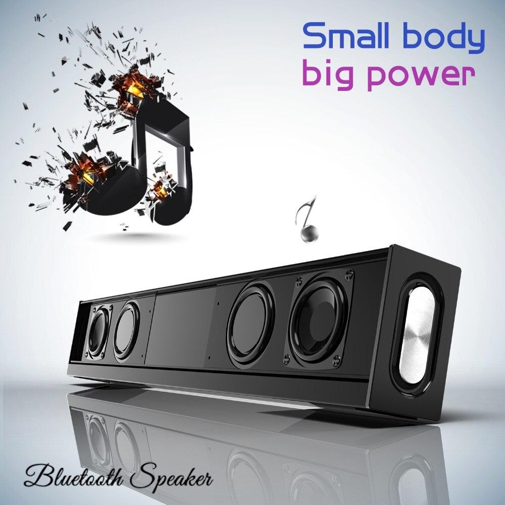 DOOLNNG 20 W haut-parleur Bluetooth Home cinéma barre de son Super basse Portable sans fil ordinateur PC TV haut-parleur Subwoofer micro FM Radio - 3