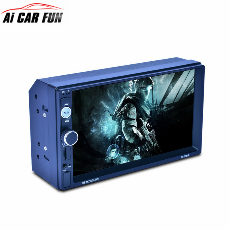 RK-7157B 7inch 2DIN Car Radio MP5 Player Rear View Camera FM/AM/RDS Radio Tuner Bluetooth Media Player Remote Control Function rk 7157b 7inch 2din car mp5 rear view camera fm am rds radio tuner bluetooth media player steering wheel control