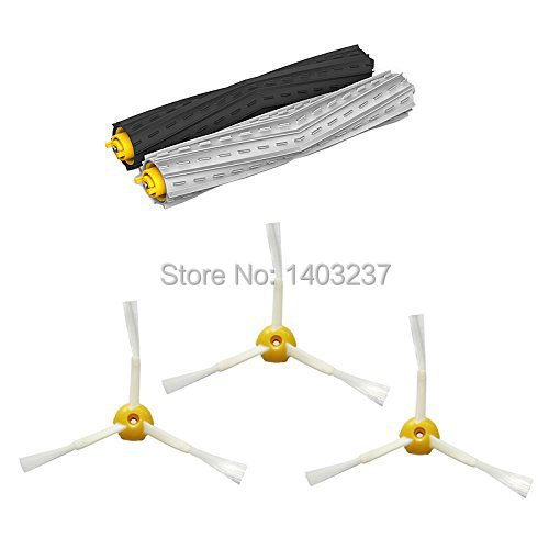 2 individual extractors & 3 side brushes Tangle-Free Debris Extractor Set For iRobot Roomba 800 series 870 880 900 series 980 2 set tangle free debris extractor 4 hepa filter 6 side brush fit for irobot roomba 800 900 series 870 880 980 cleaner parts