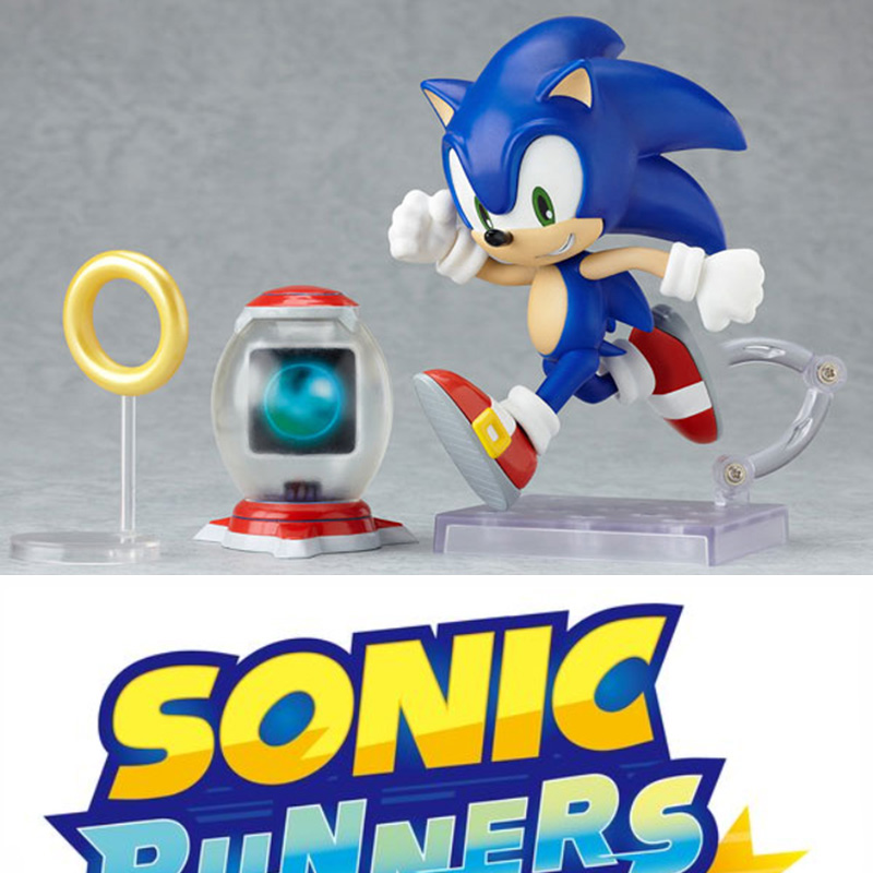 10cm Height Sonic The Hedgehog Action Figure Toys Set 4 Model Toys With Original Box For Collection original box sonic the hedgehog vivid nendoroid series pvc action figure collection pvc model children kids toys free shipping