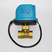 2 way/3 way AC 220V Brass Electric Motorized Ball Valve 3 wires 2 control Thread DN15 /20/25/32/40/50 for water gas oil
