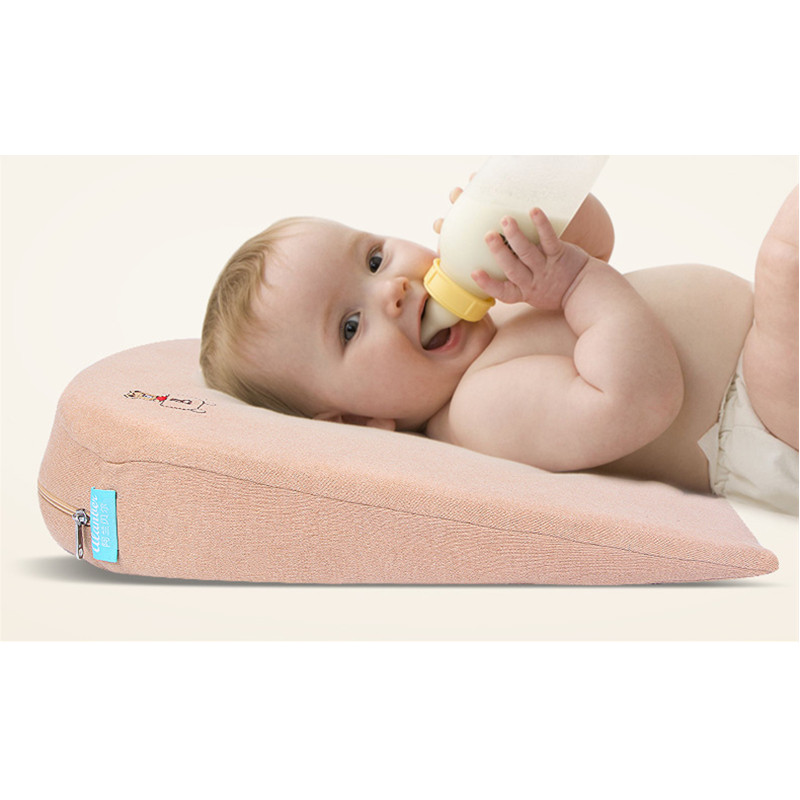 Baby Slow Rebound Pillows Colored Cotton Nursing Slope Pillow U-Shape Pad for Newborns Prevent Baby from Vomiting Milk Cushion