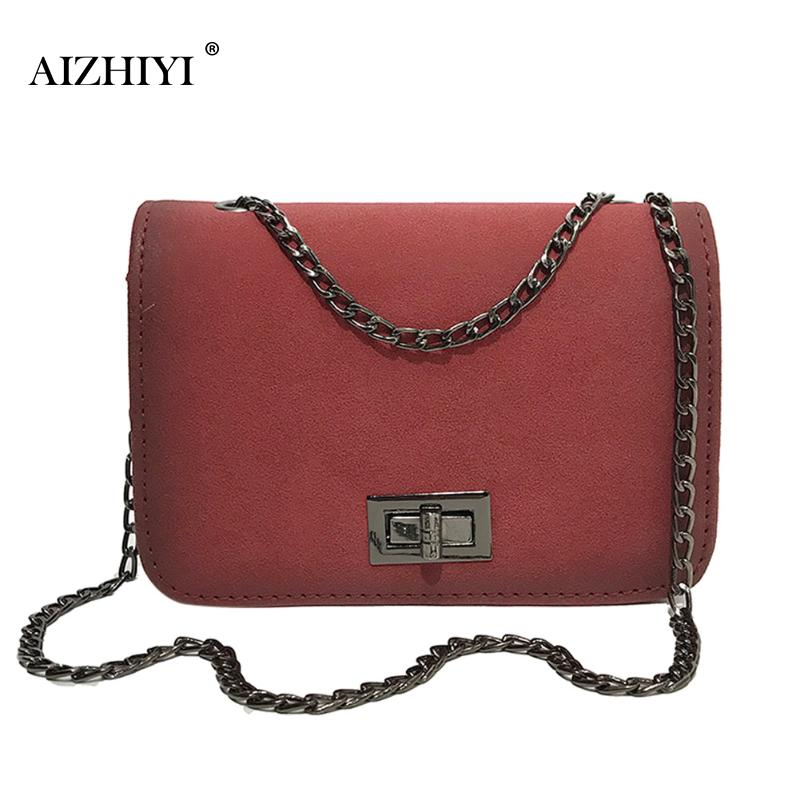 Фото Women Hasp Solid Designer PU Leather Chain Messenger Bag Small Handbags  Tote Bag Vintage Sling Crossbody Sling Shoulder Bags