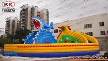 100 Человек Дракон Акула Водный Рай надувной водной горкой большой бассейн