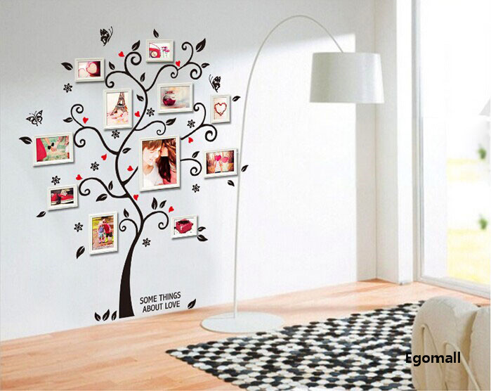 Tree Photo Frame Diy 3D Vinyl Wall Stickers Home Decor Design Living Room  Sofa Vintage Poster Wall Art Decals Home Decoration In Wall Stickers From  Home ...