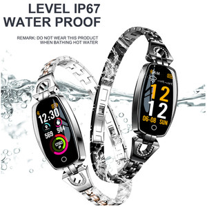 Image 5 - H8 dames montre Bracelet intelligent fréquence cardiaque sphygmomanomètre Fitness Tracker podomètre étanche podomètre IOS Android Smartwatch