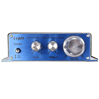 LVPIN Mini Hi Fi 180W Amplificatore Audio 12V Auto Moto 2CH Radio MP3 USB Amplifier