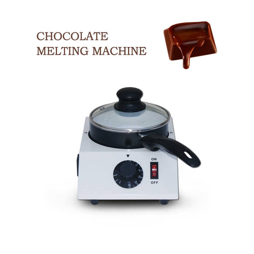 ITOP 40W Mini Machine de fusion de chocolat électrique Pot unique en céramique anti-adhésif Pot trempe cylindre Melter Pan 220V