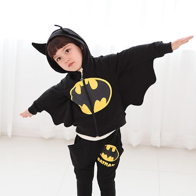 Autumn Batman Kids Clothes Boys Cosplay Costume Roupa Menino Korean Version Cartoon Children s Clothing Vetement
