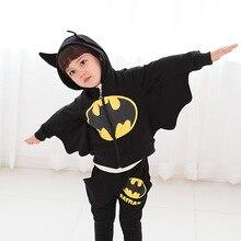 Automne Batman Enfants Vêtements Garçons Cosplay Costume Roupa Menino Coréenne Version de Bande Dessinée Enfants de Vêtements Vetement Garcon TZ87