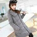 2014 Nova Moda das Mulheres Inverno quente Para Baixo Casaco Grosso casaco de Bolinhas de Médio-longo Pato Para Baixo Parkas Mais tamanho S-5XL