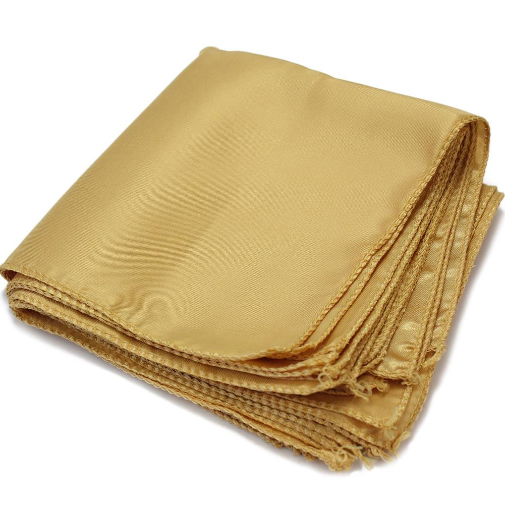 10 pces poliéster ouro guardanapos de pano quadrado para festa de férias banquete casamento casa cozinha jantar hotéis decoração 29.5x29.5cm