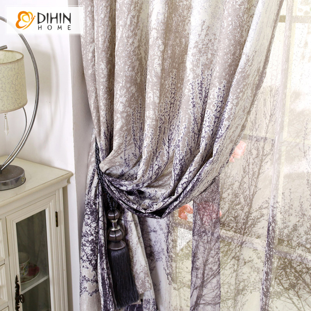 DIHIN Tree Painting Curtain For Living Room Blackout Curtain For ...