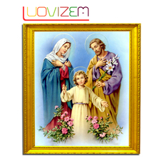 Diamond Embroidered 5D Diy Mosaic daimond painting religious Cross-Stitch Complete Religious Icon Square Rhinestone L012