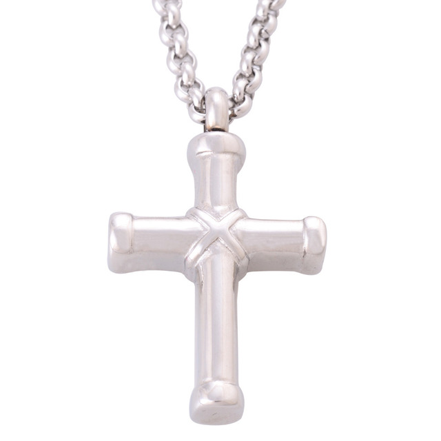 Solver Cross Urn Necklace