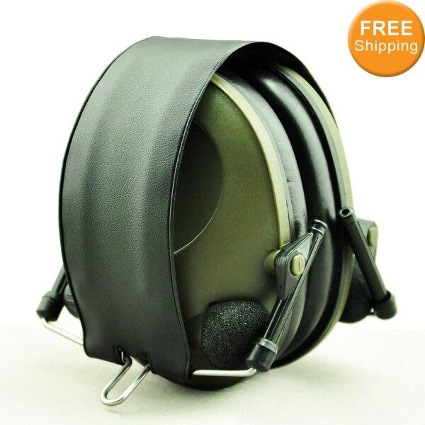 Anti noise Sport hunting Electronic Earmuff Shooting Ear Protection Tactical Hearing Protector Earmuffs headphone free shipping