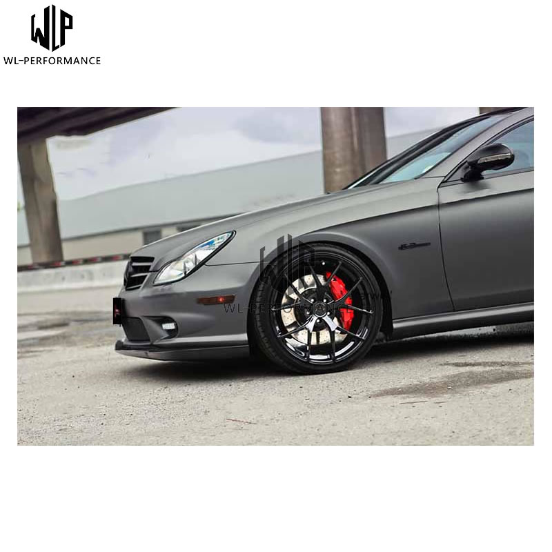 ClS carbon fiber Standard type Front Bumper Lip <font><b>Spoiler</b></font> Diffuser car body kit for Mercedes Benz W219 AMG 15up car styling use image