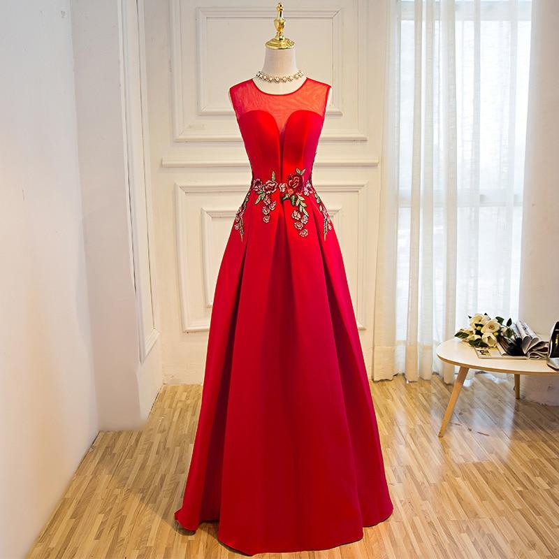 Suosikki nieuwe prom dress lange vestidos de festa a-lijn bloem cap - Jurken voor bijzondere gelegenheden - Foto 4