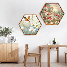 Hexagon Zen buddist painting traditional wall pictures for living room wall art canvas garden decoration back to the future(China)