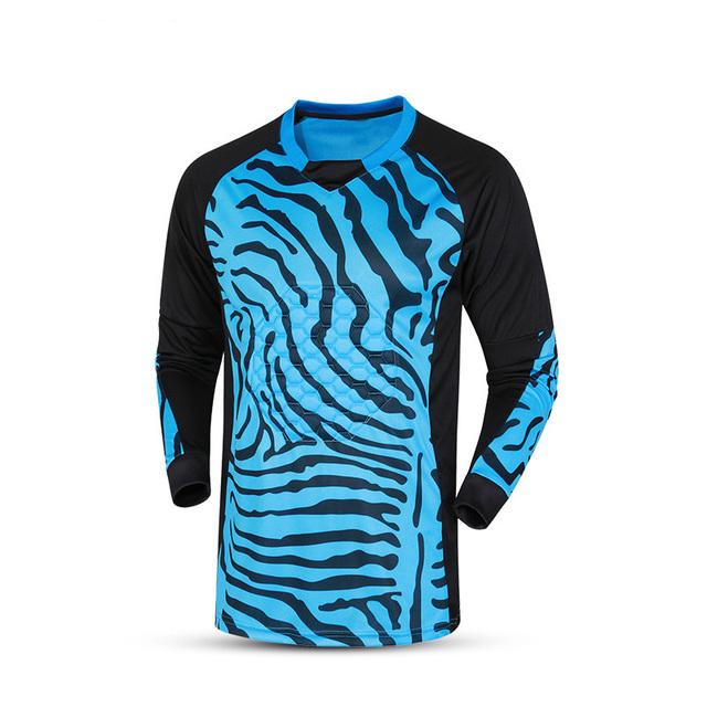 New Men Soccer Goalkeeper Jersey Sponge Protector Doorkeeper Camisetas De Futbol Men Goalkeeper Shirts Uniforms