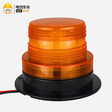 10-110V Forklift Warning Light 6W IP65 Waterproof Amber Strobe Beacon Light with 4 Flicker Modes Long Life Over 30000 Hours