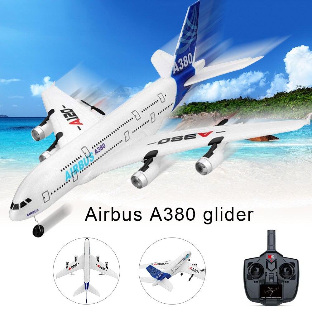 2.4 GHz 3CH RC Avion 510mm Envergure à Voilure Fixe RTF avec télécommande pour Airbus A380 YJS livraison directe