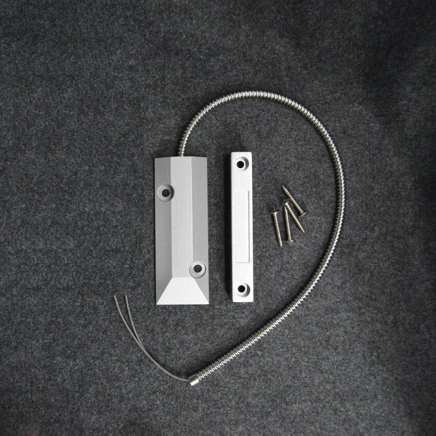 Wired Metal Rolling Door Window Open Detector Magnetic Switch Normal Close Type For Home Burglar Alarm System Sensor Alarm  10pcs nc wired door window sensor magnetic switch home alarm system detector