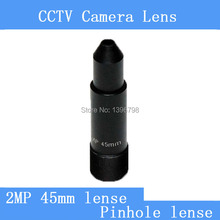 Factory direct surveillance infrared camera 2MP pinhole lens 45mm M12 thread industry CCTV lens