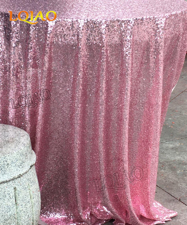 Новое поступление блестящие 90 дюймов-225 см розовый золотые блестки скатерть свадьба блесток Скатерти для свадьбы/вечерние/День рождения ук...