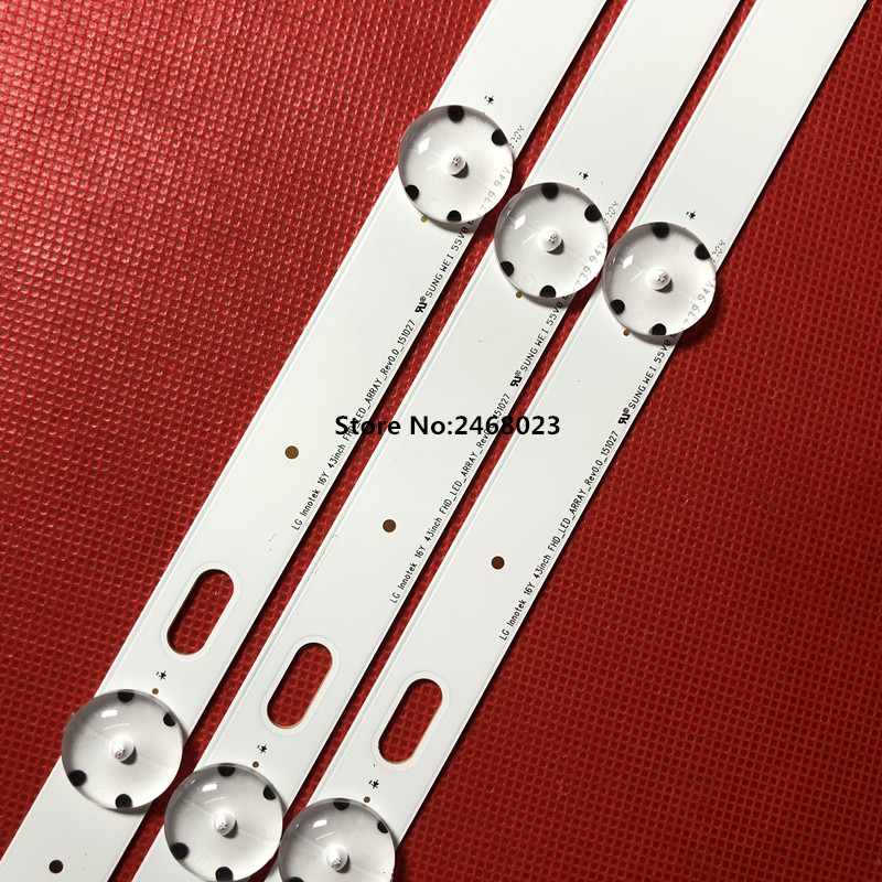 LED Backlight Strip For LG 43UF6400-CA Led Backlight UF64-UHD-A Screen HC430DGG-SLNX1-211X