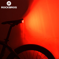 ROCKBROSจักรยานจักรยานแสงด้านหลังแบบไร้สายสมาร์ทไฟท้ายป้องกันการโจรกรรมปลุกแสง