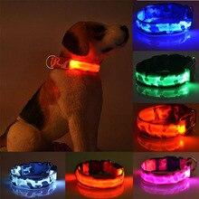 Led coleira de cachorro luminosa produtos para animais de estimação segurança camuflagem elegante piscando brilho colar acessórios para animais de estimação