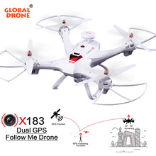 Global Drone X183 RC Helicopter DUAL GPS Dron Hover drones FPV Follow Me Quadcopter with 5.8G 1080P HD Camera RC Drone VS H501S