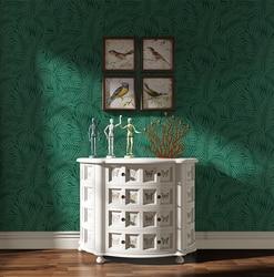 Высококачественные рельефные обои для гостиной, ТВ, европейский стиль, зеленые 3D трехмерные обои для спальни, Пальмовые Листья