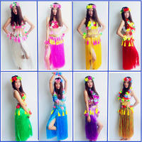 Hawaii Hula Set Adult Men and Women Thickened 80cm annual performance dance performance clothing