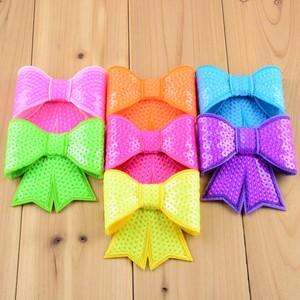 """Image 5 - Wholesale 200pcs/lot 32color U Choose 3"""" Embroidery Large Sequin Bow Kids Hair Boutique Bows DIY Accessories Ornaments HDJ13"""