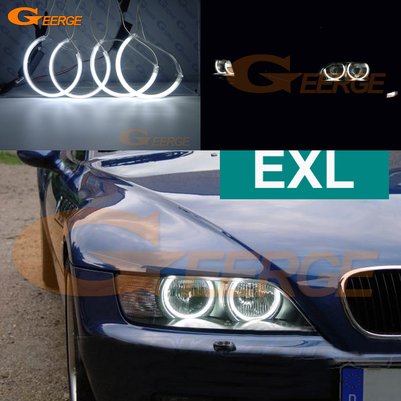 For BMW Z3 1996 2002 HALOGEN headlight Excellent angel eyes Ultra bright illumination CCFL Angel Eyes