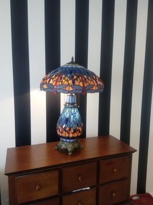 FUMAT Tiffany Libellule Européenne Salon De Chevet Lampe de Table