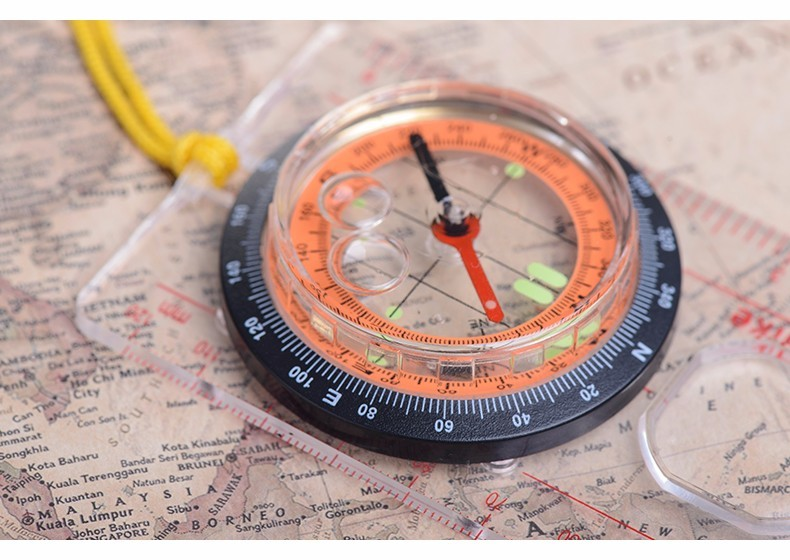 Outdoor Multifunctional Genuine With Scale Travel By Walking Compass Anti-shock Waterproof Hiking Climbing Compass