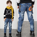 2017 Children Kid Jeans Boys Solid Jeans Pants Spring Light Wash Boys Jeans for Boys Regular Elastic Waist Children's Jeans P255